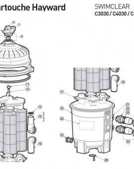 Joint torique de corps de filtre pour filtre à cartouche SWIMCLEAR C3030 C4030 C5030 - Num9