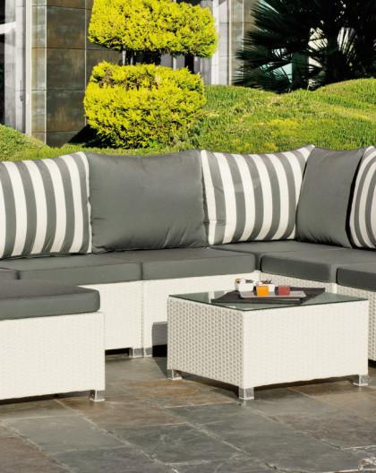 achat vente Salon de jardin BLANC Confort de 7 places | HEVEA mobilier de  jardin