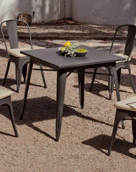 carrée de Salon jardin table achat CUBANA vente industriel qzpMVSU