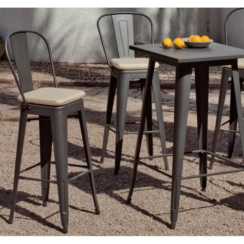 achat vente Salon de jardin industriel CUBANA table + 4 ...