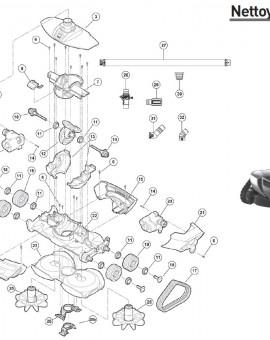 Logement moteur inférieur pour robot MX18 - Num13