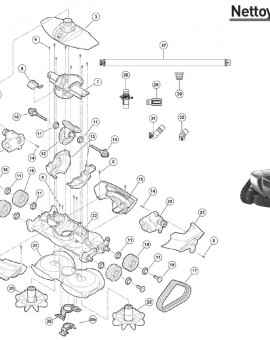 Vis auto foreuse pour robot MX19 - Num14