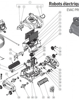 Capot complet evac pro pour robot EVAC PRO et SHARKVAC XL - Num1