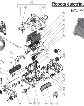 Axe de capot pour robot EVAC PRO et SHARKVAC XL - Num5