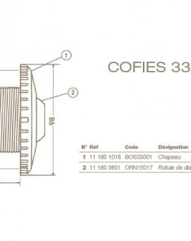 Rotule Ø 22 mm Refoulement COFIES 3304 - 3310 - 3312 et 3315