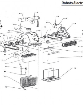 Coque pour robot DOLPHIN 2001 - Num1