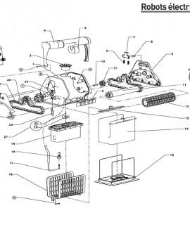 Ensemble tube pour brosse pour robot DOLPHIN 2001 - Num11