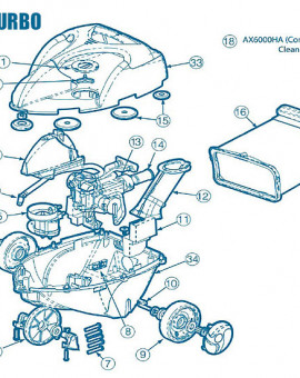 Phantom Turbo - Num 5 + 13 - Bloc collecteur + boite à engrenages