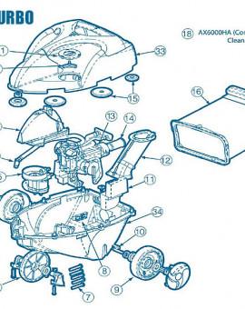 Phantom Turbo - Num 6 - Roue avant avec arbre et roulements