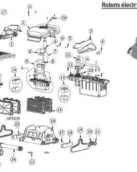 Hélice noire + vis pour robot ZENIT 10 - Num6
