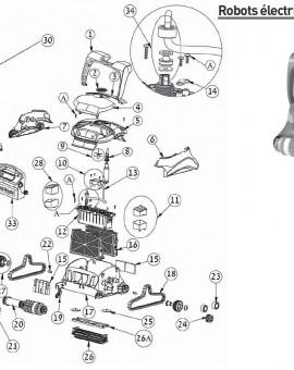 Hélice noire + vis pour robot ZENIT 30 - Num9