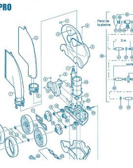 Polaris 480Pro - Num 6 - Ensemble capot bleu et poignée