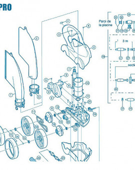 Polaris 480Pro - Num 8 - Clip inox de roue