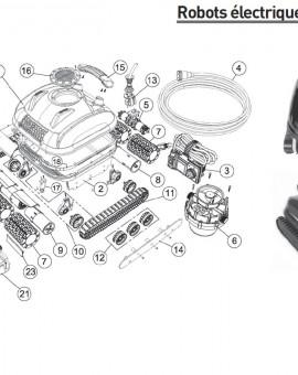 Socle de la brosse avec roulement à billes pour robot PROTRAC QC/RC - Num10