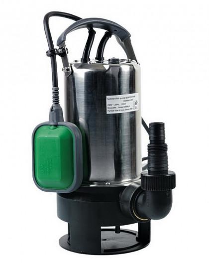 Pompe vide-cave eaux chargées 900w inox base plastique avec interrupteur flotteur
