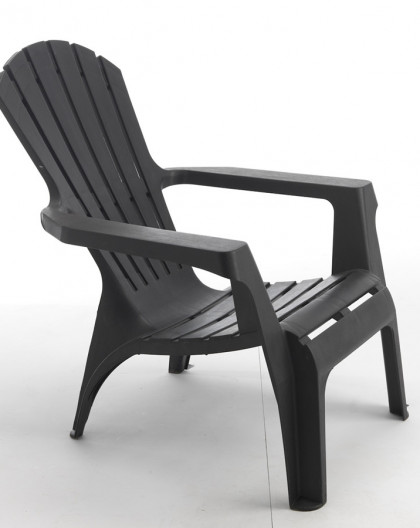 Fauteuil Adirondack couleur anthracite