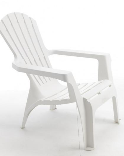 Fauteuil Adirondack couleur blanc