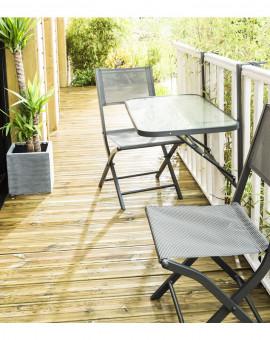 Table de jardin Table de Balcon pliante Dim. 50 x 90cm