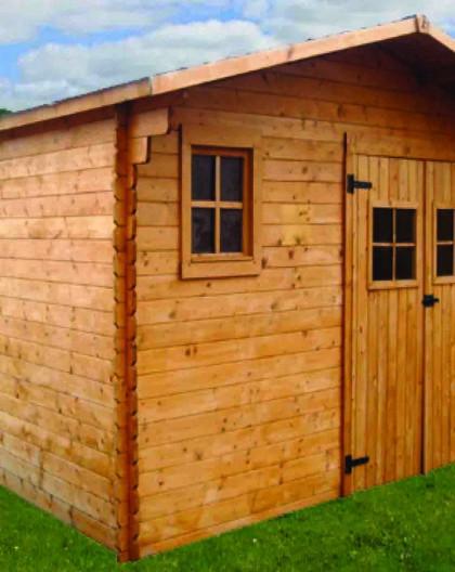 Abri de jardin en bois, 10.67m2 et 4x3m | Abri de jardin en bois pas cher