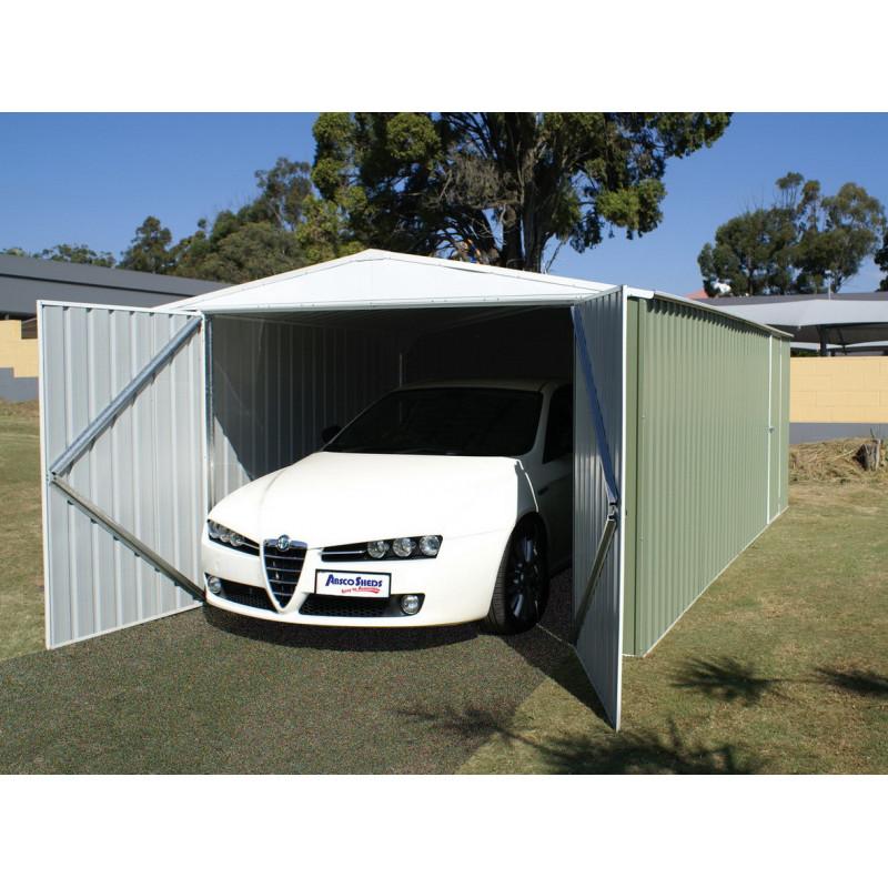 garage en m tal en kit de 3x6m garage m tal pas cher. Black Bedroom Furniture Sets. Home Design Ideas