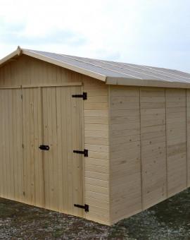 Garage Bois Panneaux 16mm EDEN de 13.2 m2 de 2.8x4.8m Option Montage a domicile possible