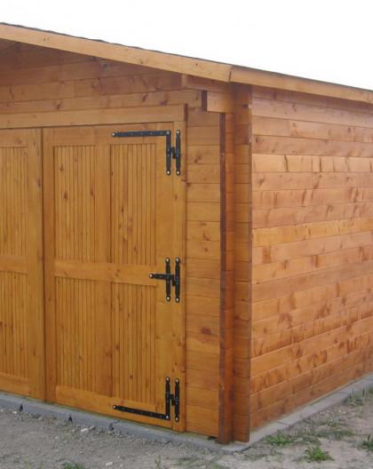 Garage Bois Madrier 42mm VECTURA de 19.03 m2 de 3.5x6.2m