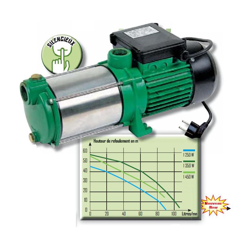 Pompe multi-cellulaire 5 turbines pompe inox autoamor 5,5bars//5,