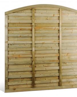 Panneau clôture brise-vent et brise-vue en arc DELIMIT5 180x180cm