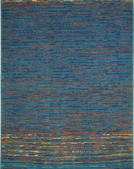 Tapis en Laine Vierge Modèle COIMBRA 172 BLEU Rectangulaire - Dim. cm 200x300