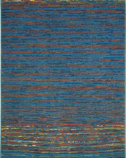 Tapis en Laine Vierge Modèle COIMBRA 172 BLEU Rectangulaire - Dim. cm 200x250