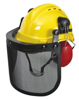 Casque de protection 3 en 1 (casque visière et oreillettes)
