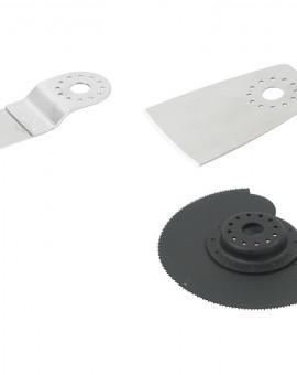 Lames pour PRPMV/M 1 grattoir inox 1 lame scie inox pour bois et plastique 1 acier pour le métal