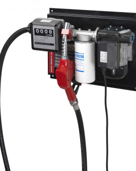 Pompe gasoil 60 L/mn avec filtre eau/gasoil tuyau refoulement 6m