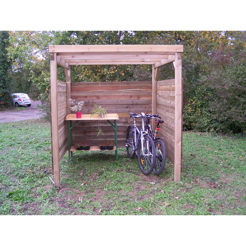 carport ferm 3 c t s 2x2m carport abri voiture m2 pour jardin. Black Bedroom Furniture Sets. Home Design Ideas