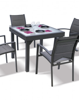 Table Modulo grise 90-180cm 4 à 8 places
