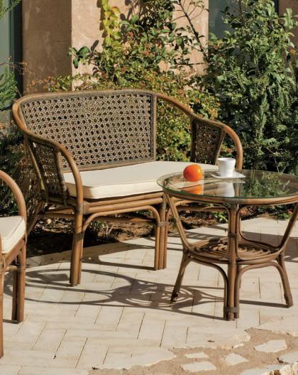 salon de jardin austin 4 places bois rotin hevea mobilier de jardin. Black Bedroom Furniture Sets. Home Design Ideas