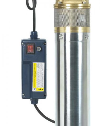 Pompe immergée inox 750w 60m 1 turbine laiton + tableau électrique
