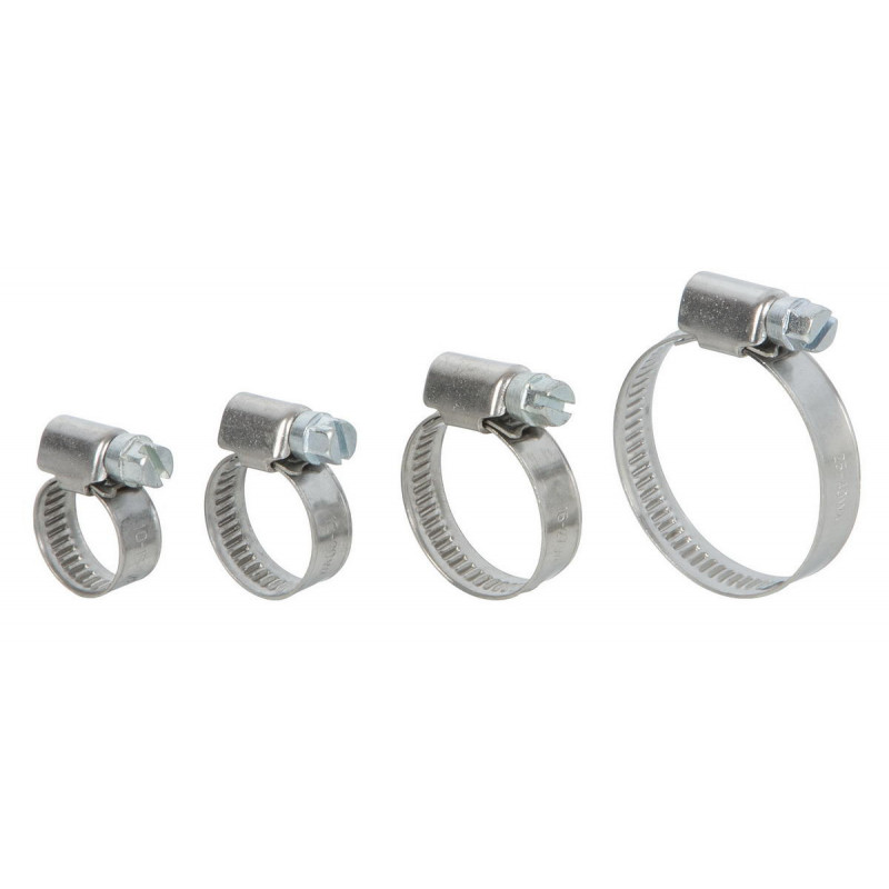 RETYLY Lot de 8 colliers de serrage r/églables pour tuyau de carburant de 9 /à 16 mm