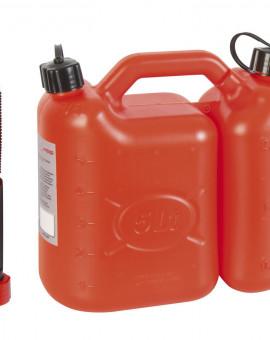 Jerrican essence double compartiment 5 Litres + 2.5 Litres