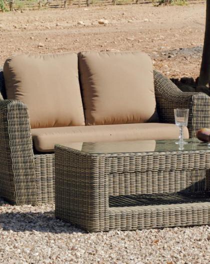 achat vente Salon de jardin MANDO 7 - résine tressée osier | HEVEA mobilier  de jardin