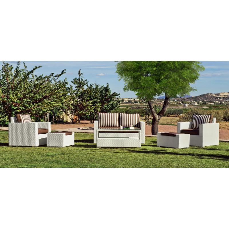 Salon de Jardin TUSCAN 6 places | Résine tressée | HEVEA mobilier de ...