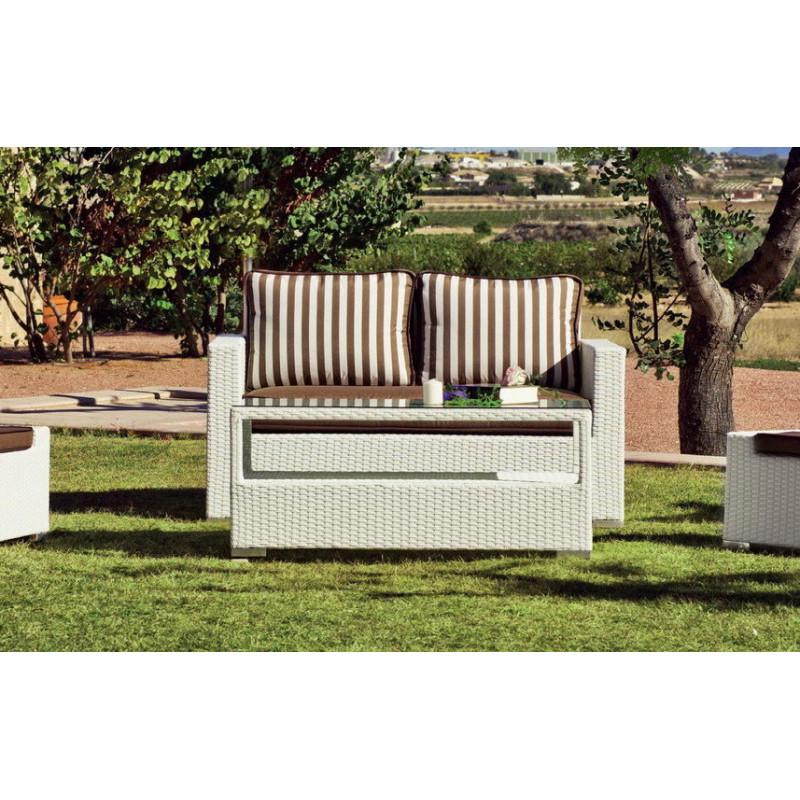 salon de jardin tuscan 6 places r sine tress e hevea. Black Bedroom Furniture Sets. Home Design Ideas