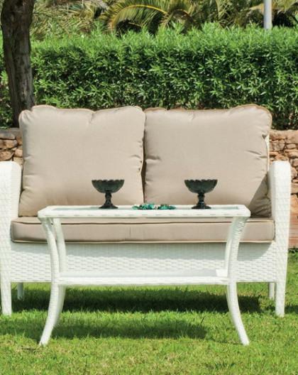 Salon de Jardin ANABEL 4 places | Résine tressée | HEVEA mobilier de jardin
