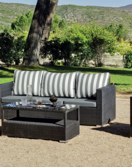Salon de Jardin GRIS ANTHRACITE 5 places