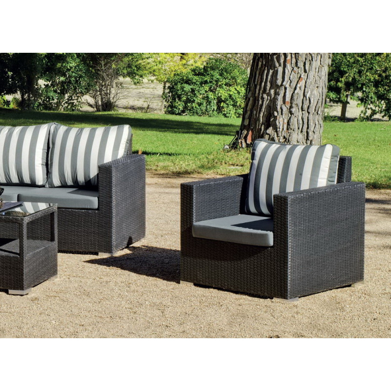 salon de jardin gris anthracite 5 places r sine tress e. Black Bedroom Furniture Sets. Home Design Ideas