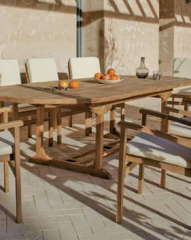 Salon de jardin BRACO Table extensible 180-300 + 8 fauteuils