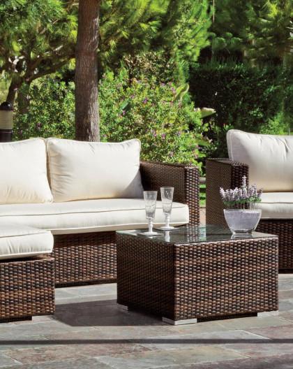 Achat vente salon de jardin avec chilienne et canap 2 - Vente mobilier de jardin ...