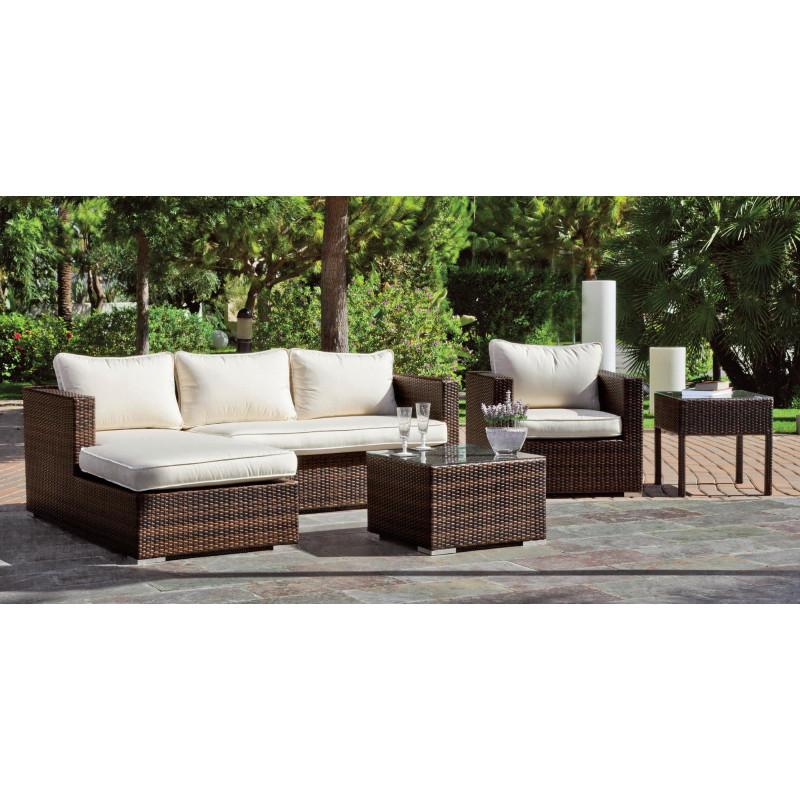 achat vente salon de jardin avec chilienne et canap 2. Black Bedroom Furniture Sets. Home Design Ideas