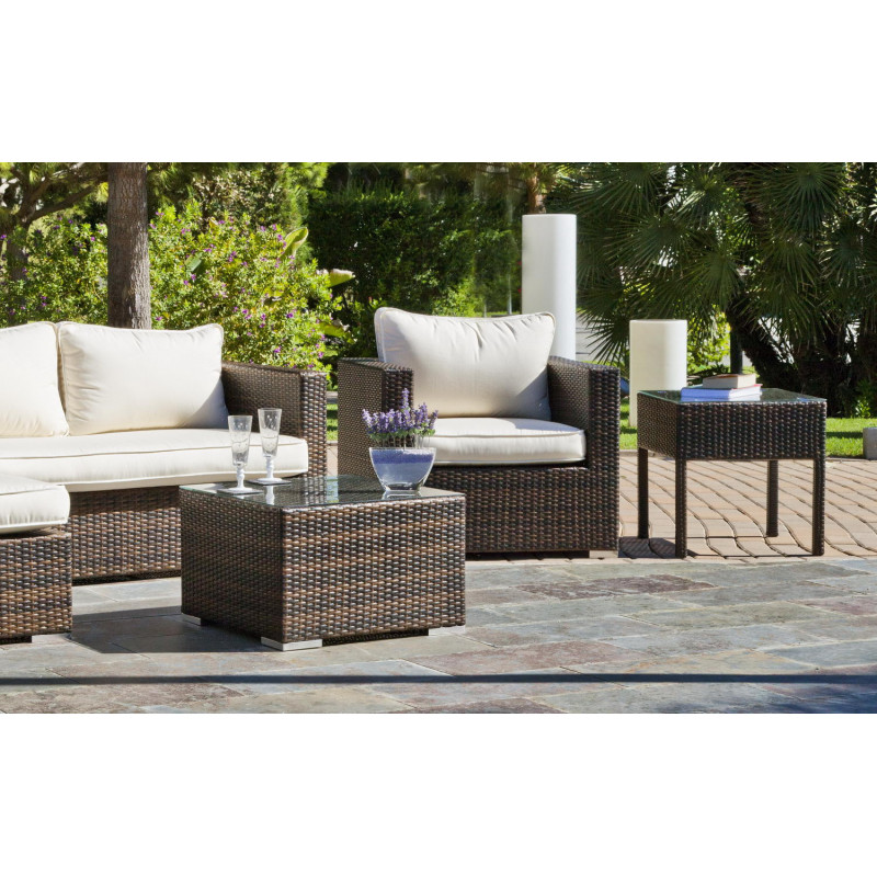 achat vente salon de jardin avec chilienne et canap 2 places hevea mobilier de jardin. Black Bedroom Furniture Sets. Home Design Ideas