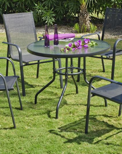 Salon de Jardin TELURO 4 places | aluminium | HEVEA mobilier de jardin